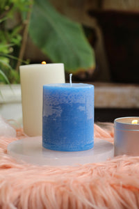 Blue Pilar Candle | Altar Candle |  Decor Candle