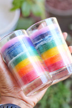 Load image into Gallery viewer, Seven Chakra Glass Candle - Set of 2