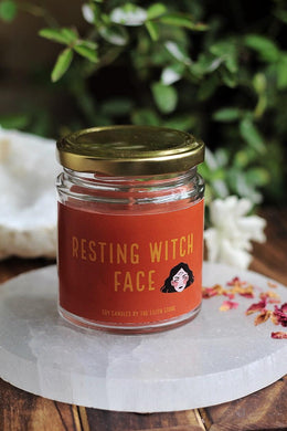 Resting Witch Face Soy Candle - 100 g