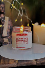 Load image into Gallery viewer, Root Chakra Scented Candle with Crystal Tumble - Soy Wax - 100 g