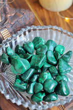 Load image into Gallery viewer, Malachite Tumble Stone - Stone of Protection & Encouragement