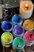 Load image into Gallery viewer, Seven Chakra Scented Candle with Crystal - Set of 7 Soy Candle - 100 g
