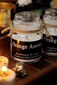 Orange Scented Candles - 80 Gm