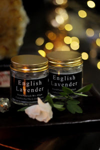 English Lavender Scented Candle Infused with Lavender Buds - 80 Gm