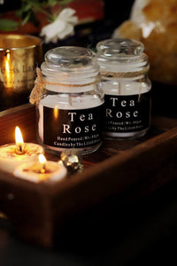 Tea Rose Scented Candle -80 Gm