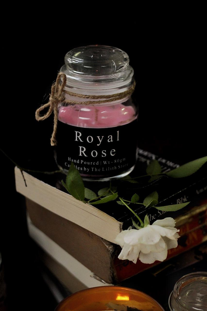 Royal  Rose Scented Candle - 80 Gm