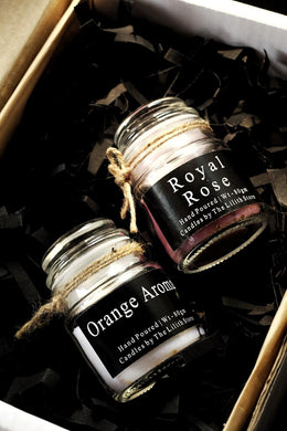 Orange Aroma & Royal Rose Scented Candle - 80 Gm