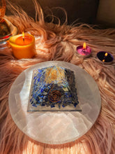 Load image into Gallery viewer, Lapis Lazuli Chips Orgonite Pyramid - 1