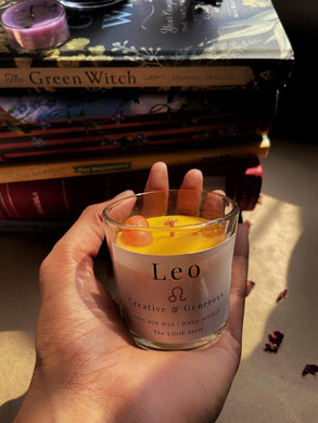 Leo Zodiac Mini Candle - 60 Gm