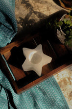 Load image into Gallery viewer, Star Shape Selenite Candle Holder