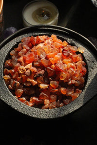 Orange Carnelian Chips - 50 Gm