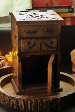 Load image into Gallery viewer, Hand Crafted Triquetra / Trinity Knot Herb Chest ,Altar Box, Herb Chest, Wiccan Herb Chest