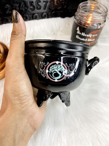 Cauldron with Tree of Life Symbol