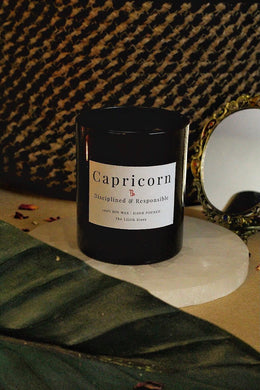 Capricorn Zodiac Scented Soy Candle - 170 Gm
