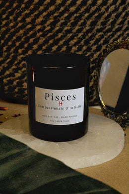 Pisces Zodiac Scented Soy Candle - 170 Gm