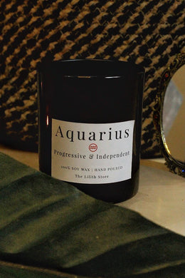 Aquarius Zodiac Scented Soy Candle - 170 Gm