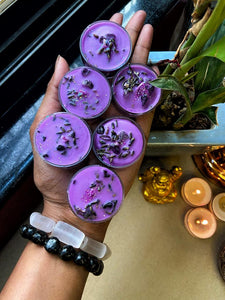 Lavender Scented Tea Light Candles - Lavender & Amethyst