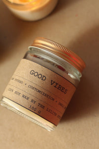 Good Vibes Scented Candles -Infused with Herbs -100 Gm Wax
