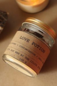 Love Potion Candle | Ritual Candle | Herb & Crystal Infused Candle 100 gm wax
