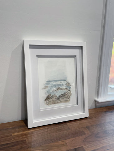 West Coast Print in white gallery frame