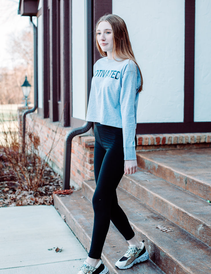 Define Yourself Women's Heavyweight Long Sleeve Crop