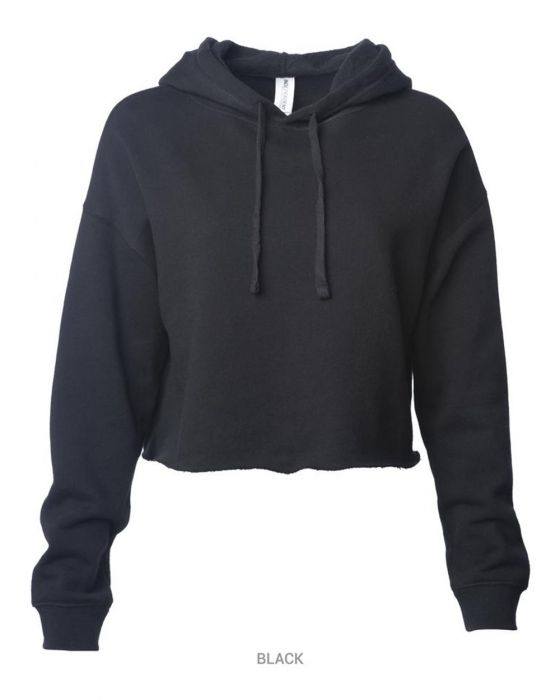 Women's Lightweight Cropped Hooded Sweatshirt