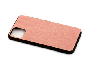 Fitted Faux Leather Cell Phone Case