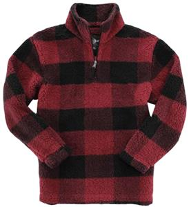 Garnet/Black Buffalo Plaid