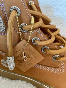 Customized Rhinestone Boots - Timberland