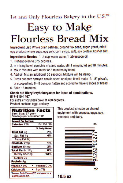 Flourless Bread Mix -- simple, easy to make, and wheat-free!