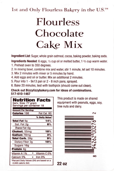 Flourless Chocolate Cake Mix