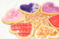Customized Heart-Shaped Cookies (Box of 6)