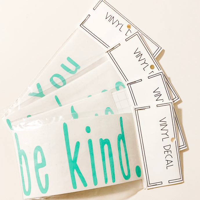 """Be Kind"" Car Window Decal"