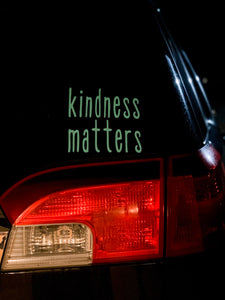 """Kindness Matters"" Car Window Decal"