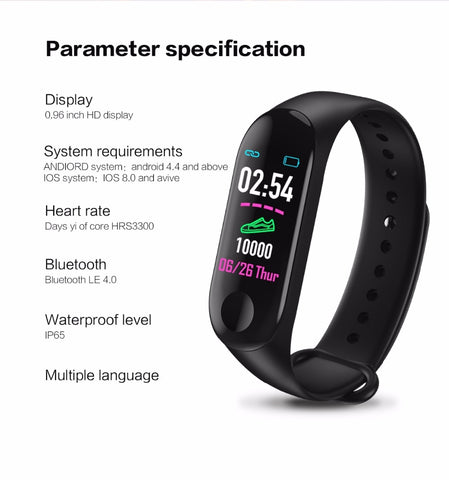 Image of M3 Plus Smart Band Bluetooth Sports Fitness
