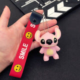 Porte Clé Smile Stitch Rose