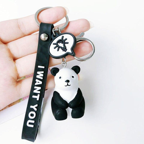 Porte Clé Panda I Want You