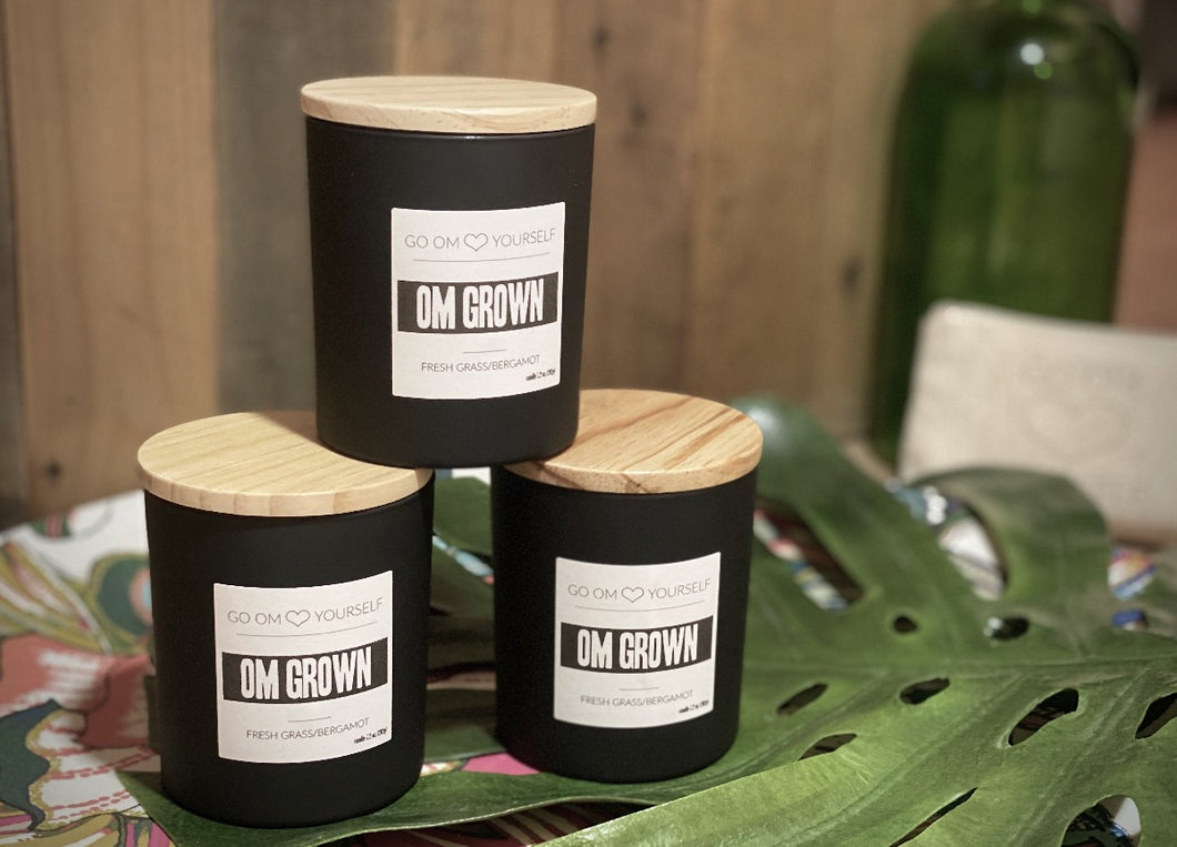 OM GROWN Aromatherapy Candle - Go OM Yourself
