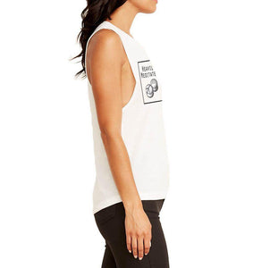 Heavily Meditated Yoga Tank - Rock Concert Crew Tee - Go OM Yourself