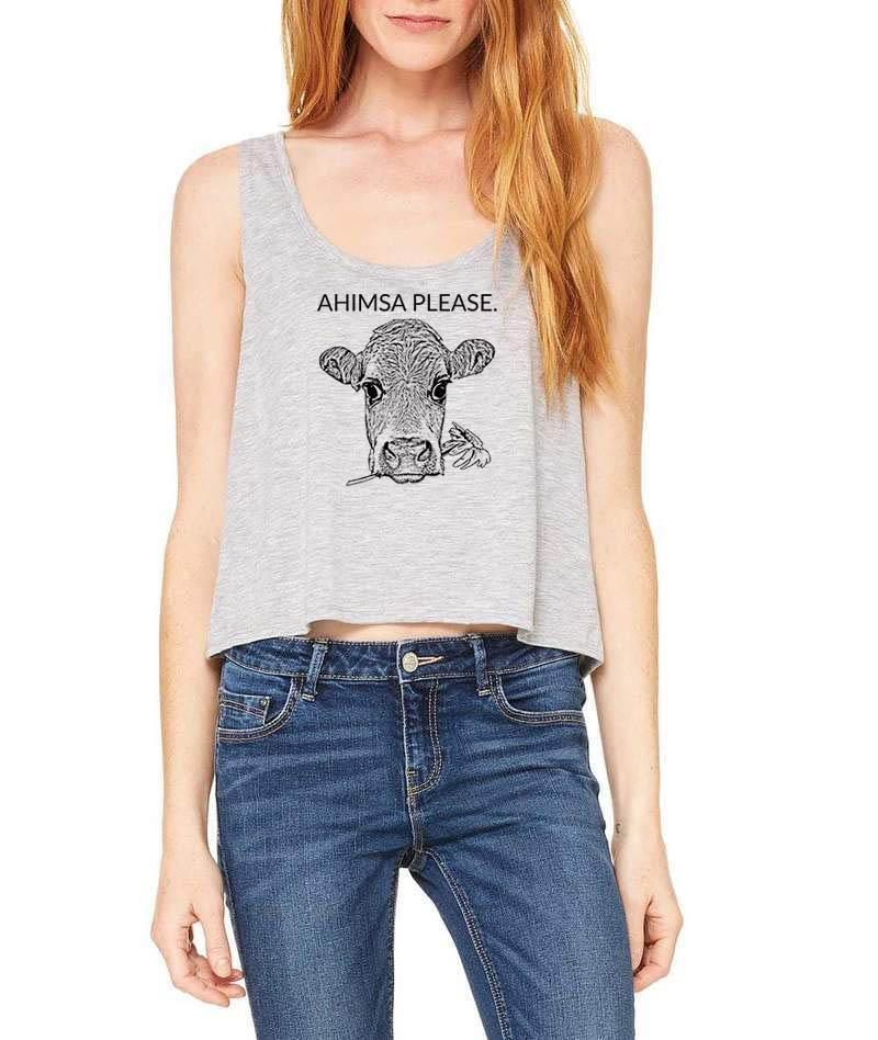 Ahimsa Festival Flow Vegan Tank Top - Go OM Yourself