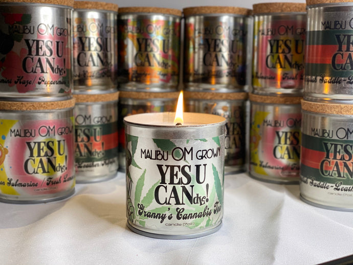 Granny's Cannabis Tea - Aromatherapy Candle - Go OM Yourself