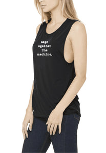 Sage Against The Machine - Rock & Roll Yoga Crew Tank - Go OM Yourself