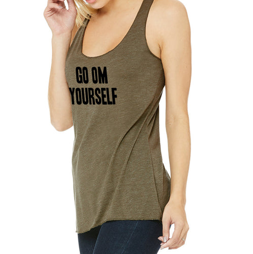 Yoga Tank Tops - Go OM Yourself Backstage Tank (FONT AND CENTER) - Go OM Yourself