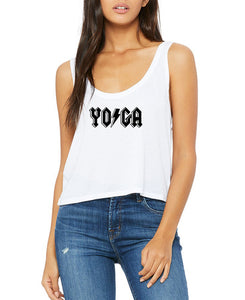 """Whole Lotta Yogi"" Rock and Roll Festival Flow Yoga Tank - Go OM Yourself"