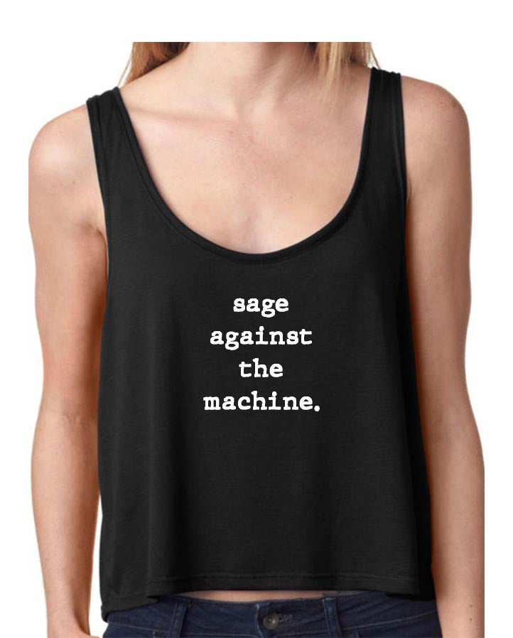 Sage Against The Machine - Yoga Flow Tank Top - Go OM Yourself