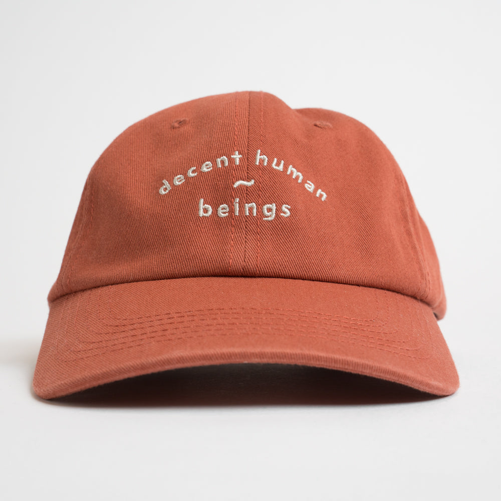 ARCHED LOGO UNSTRUCTURED CAP - BURNT ORANGE