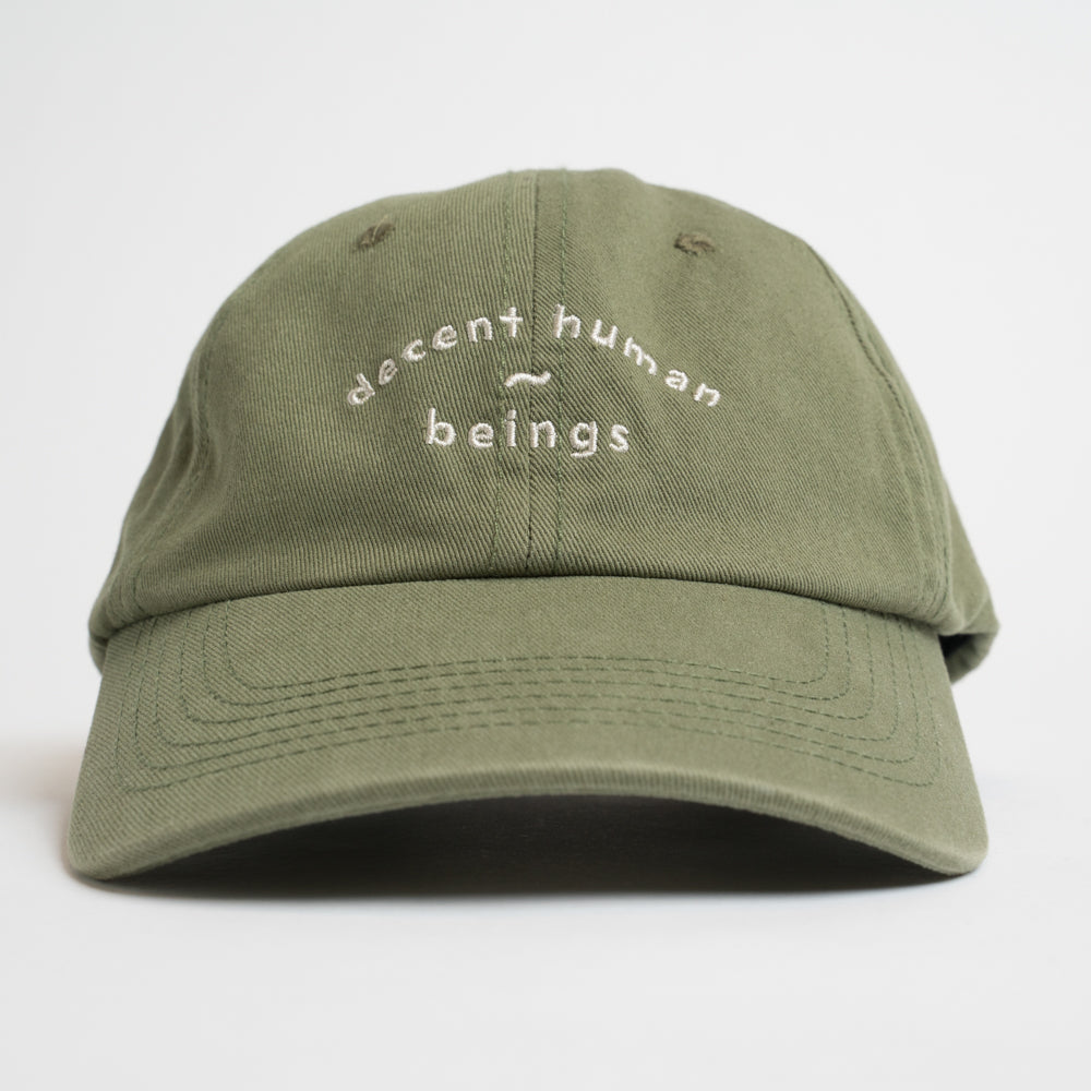 ARCHED LOGO UNSTRUCTURED CAP - OLIVE GREEN
