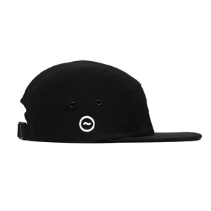 HB 5-PANEL CAP - BLACK/WHITE