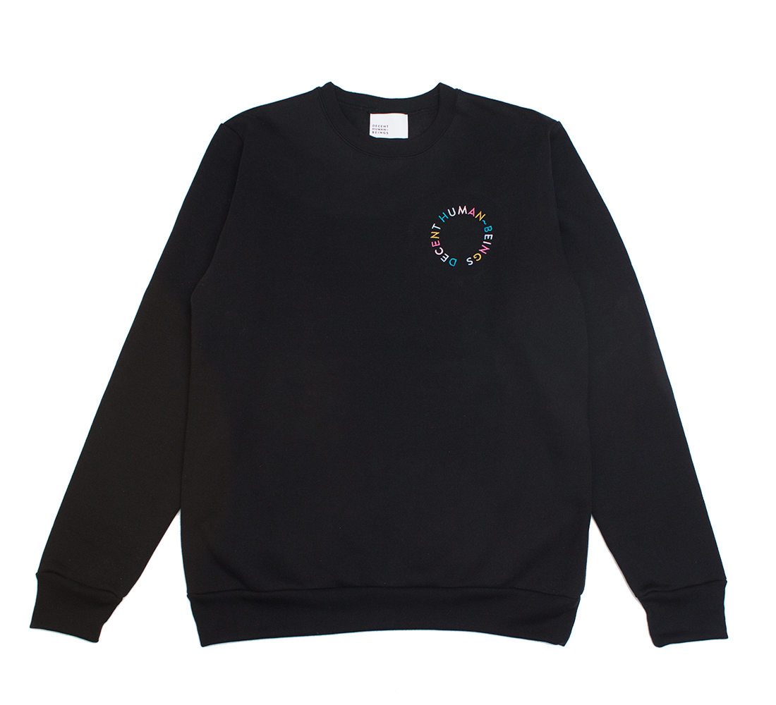 CIRCLE LOGO CREWNECK - BLACK
