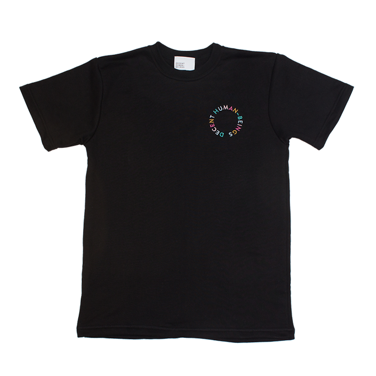 CIRCLE LOGO TERRY TEE - BLACK